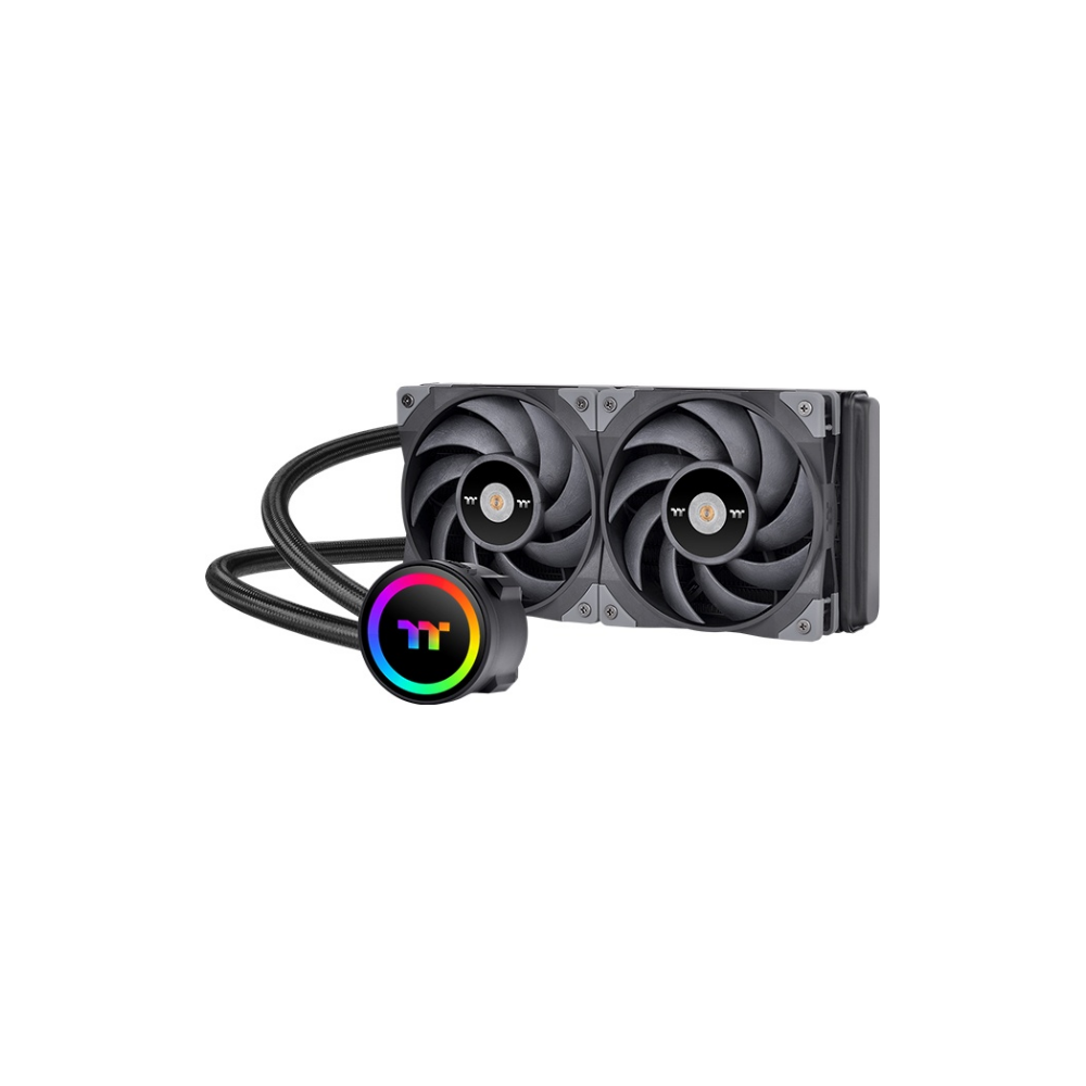 A large main feature product image of Thermaltake ToughLiquid ARGB 240 CPU Cooler
