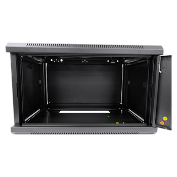 Product image of LDR 6U Wall Mount Cabinet Glass Door (600mm x 450mm) Flat Packed - Black Metal Construction - Top Fan Vents - Side Access Panels - Click for product page of LDR 6U Wall Mount Cabinet Glass Door (600mm x 450mm) Flat Packed - Black Metal Construction - Top Fan Vents - Side Access Panels