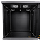 A small tile product image of LDR 12U Wall Mount Cabinet Glass Door (600mm x 450mm) Flat Packed - Black Metal Construction - Top Fan Vents - Side Access Panels