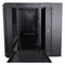 A small tile product image of LDR 12U Hinged Wall Mount Cabinet Glass Door (600mm x 550mm) Flat Packed (2 Cartons) - Black Metal Construction - Top Fan Vents - Side Access Panels