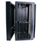 A small tile product image of LDR 18U Hinged Wall Mount Cabinet Glass Door (600mm x 550mm) Flat Packed (2 Cartons) - Black Metal Construction - Top Fan Vents - Side Access Panels