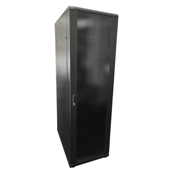 Product image of LDR 42U Server Rack Cabinet Glass Door (600mm x 1000mm) Flat Packed (3 Cartons) With 1x 8 Port PDU & 1x 4 Way Fan - Black Metal Construction - Click for product page of LDR 42U Server Rack Cabinet Glass Door (600mm x 1000mm) Flat Packed (3 Cartons) With 1x 8 Port PDU & 1x 4 Way Fan - Black Metal Construction