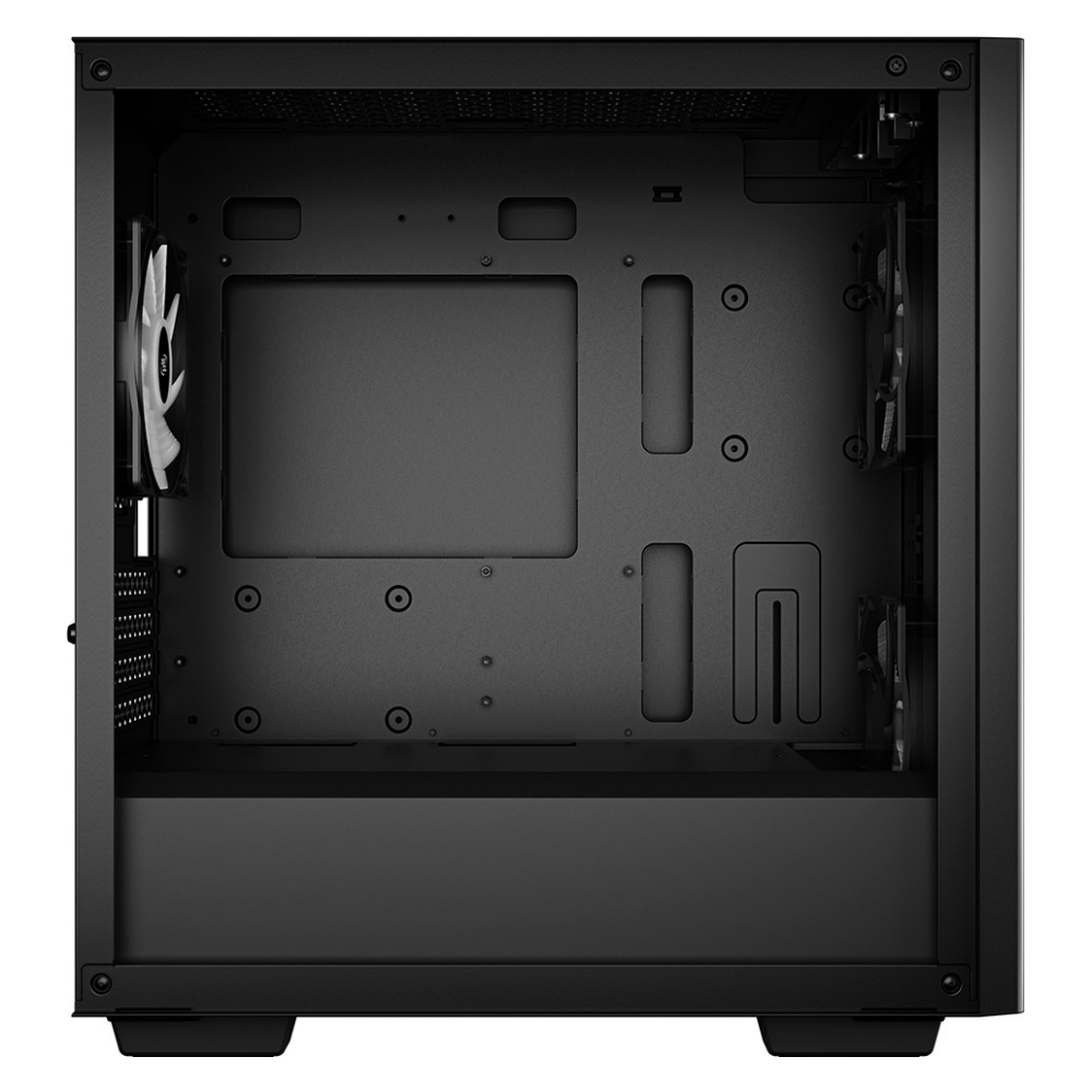 A large main feature product image of Deepcool Matrexx 40 3FS Black mATX Mid Tower Case w/ Tempered Glass Side Panel