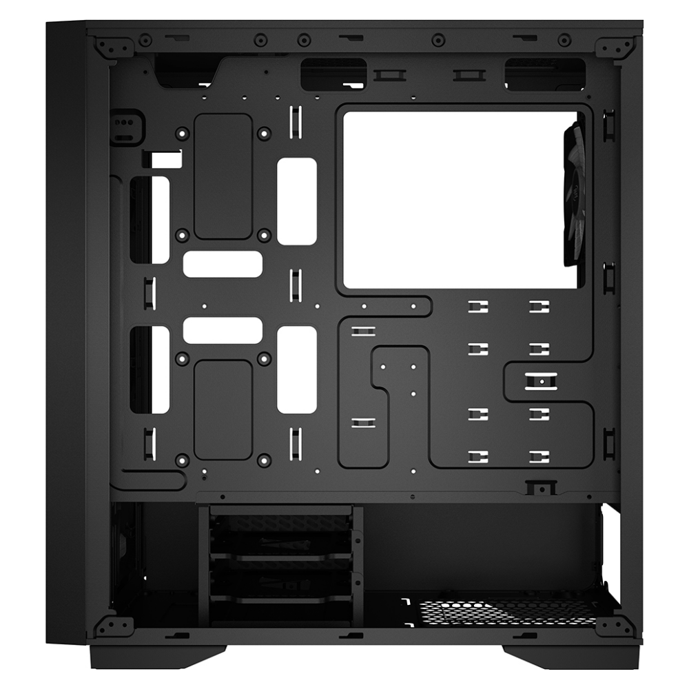 A large main feature product image of Deepcool Matrexx 50 Mesh 4FS RGB Mid Tower Black Case