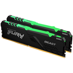 Product image of Kingston 32GB Kit (2x16GB) DDR4 Fury Beast RGB C16 2666MHz - Click for product page of Kingston 32GB Kit (2x16GB) DDR4 Fury Beast RGB C16 2666MHz