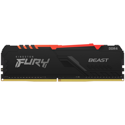 Product image of Kingston 16GB Kit (2x8GB) DDR4 Fury Beast RGB C17 3600MHz - Click for product page of Kingston 16GB Kit (2x8GB) DDR4 Fury Beast RGB C17 3600MHz