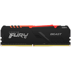 Product image of Kingston 32GB Kit (2x16GB) DDR4 Fury Beast RGB C18 3600Mhz - Click for product page of Kingston 32GB Kit (2x16GB) DDR4 Fury Beast RGB C18 3600Mhz