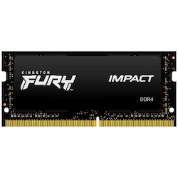 Product image of Kingston 16GB Kit (2x8GB) Fury Impact SO-DIMM C15 2666Mhz - Click for product page of Kingston 16GB Kit (2x8GB) Fury Impact SO-DIMM C15 2666Mhz