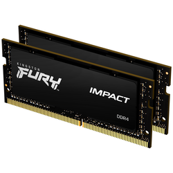 Product image of Kingston 32GB Kit (2x16GB) Fury Impact SO-DIMM C15 2666Mhz - Click for product page of Kingston 32GB Kit (2x16GB) Fury Impact SO-DIMM C15 2666Mhz