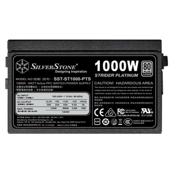 Product image of Silverstone ST1000-PTS 1000W 80PLUS Platinum Modular Power Supply - Click for product page of Silverstone ST1000-PTS 1000W 80PLUS Platinum Modular Power Supply