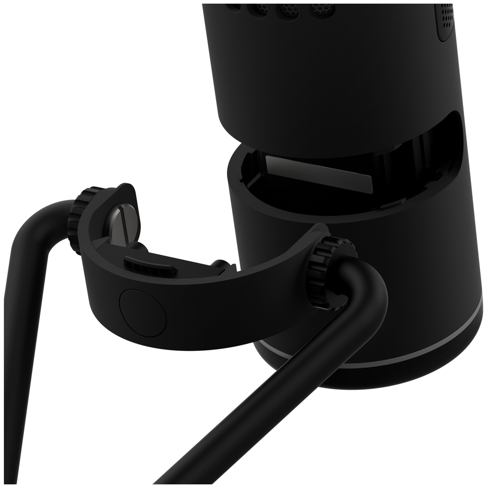 A large main feature product image of NZXT Capsule Wired USB Cardioid Microphone - Black