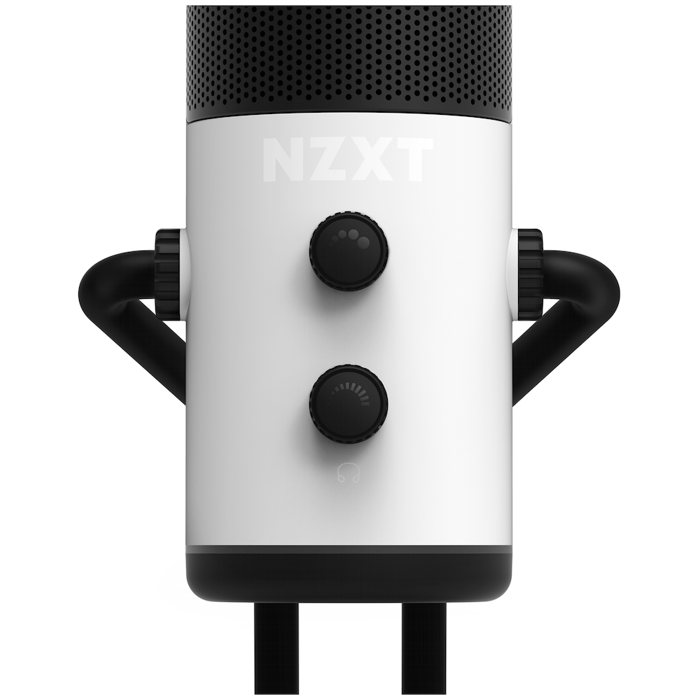 A large main feature product image of NZXT Capsule Wired USB Cardioid Microphone - White