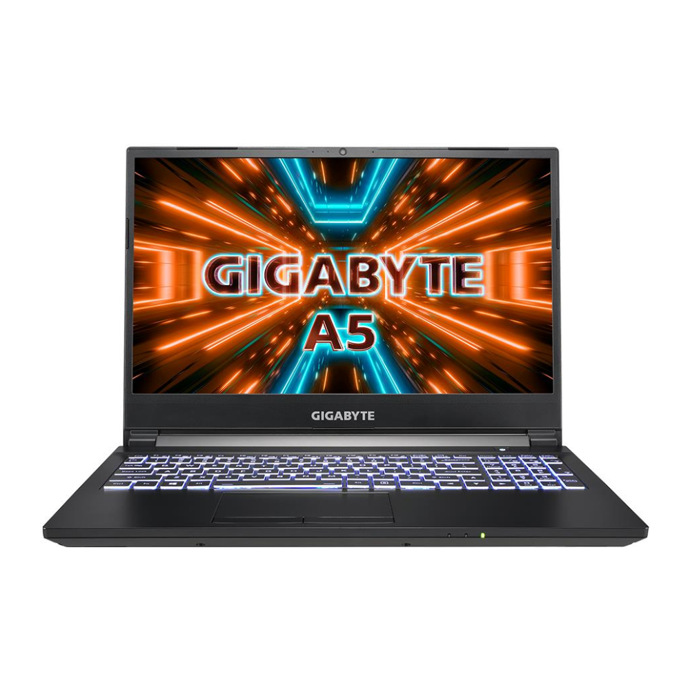 """A large main feature product image of Gigabyte A5 X1 15.6"""" Ryzen 9 RTX 3070P Windows 10 Gaming Notebook"""