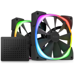 Product image of NZXT Aer RGB 2 - 140mm Twin Pack - Black - Click for product page of NZXT Aer RGB 2 - 140mm Twin Pack - Black