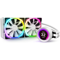 Product image of NZXT Kraken Z53 RGB 240mm AIO Liquid CPU Cooler - White - Click for product page of NZXT Kraken Z53 RGB 240mm AIO Liquid CPU Cooler - White