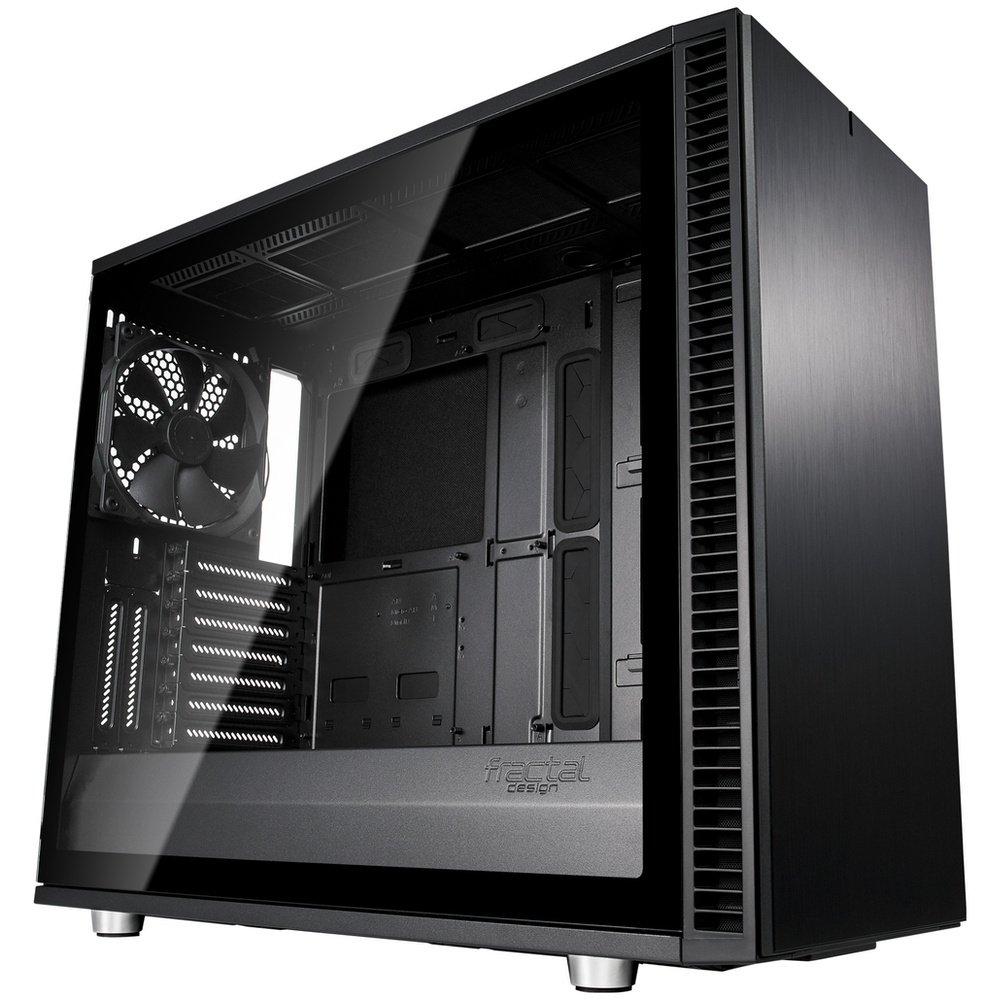 A large main feature product image of Fractal Design Define S2 Tempered Glass Mid Tower Case Blackout