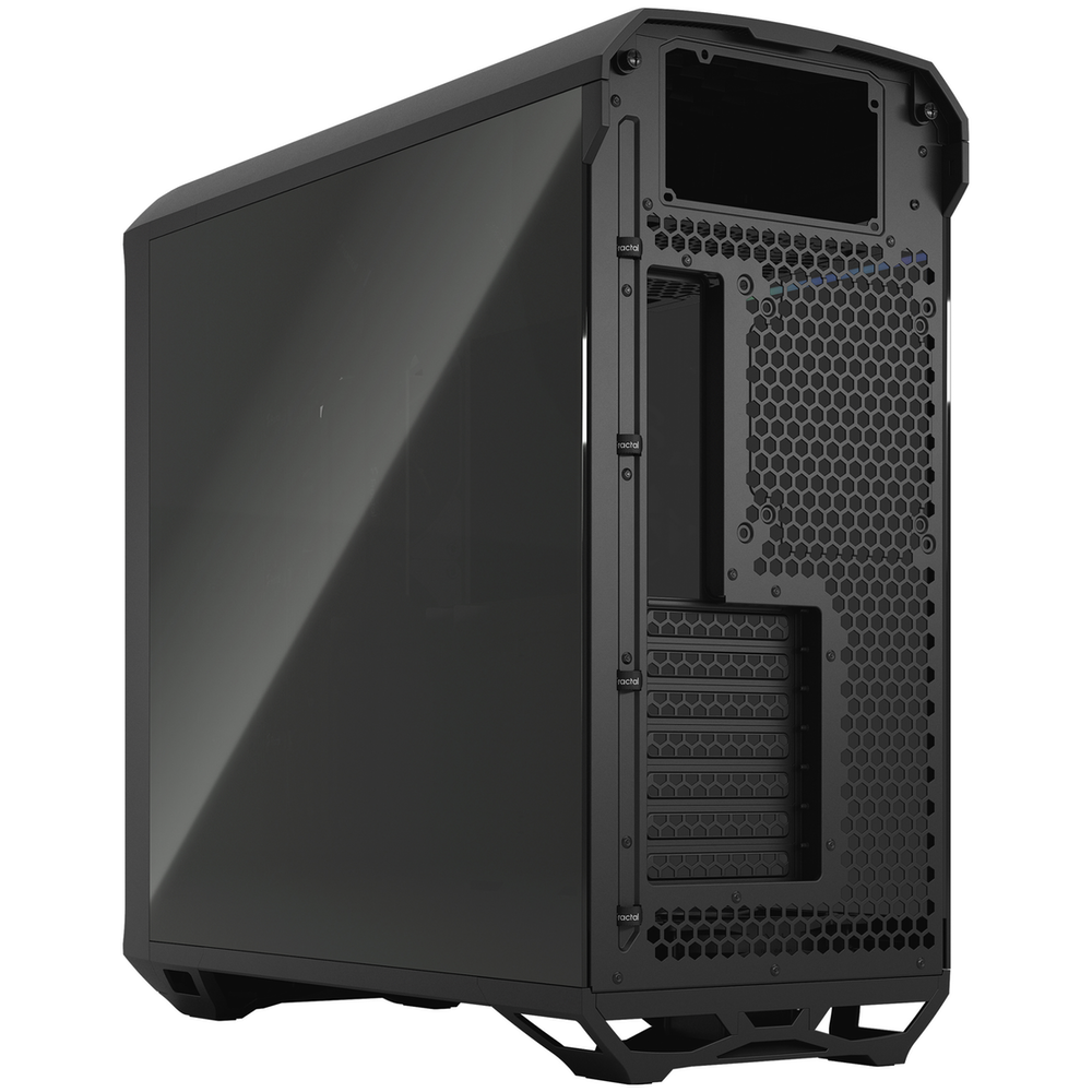 A large main feature product image of Fractal Design Torrent Dark Tempered Glass Mid Tower Case Black