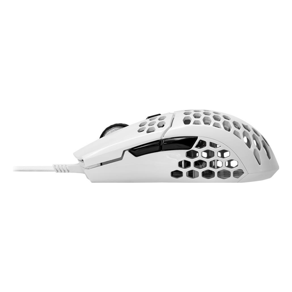 A large main feature product image of Cooler Master MasterMouse MM710 - Glossy White