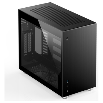 Product image of Jonsbo V10 Tempered Glass SFF Tower Case Black - Click for product page of Jonsbo V10 Tempered Glass SFF Tower Case Black