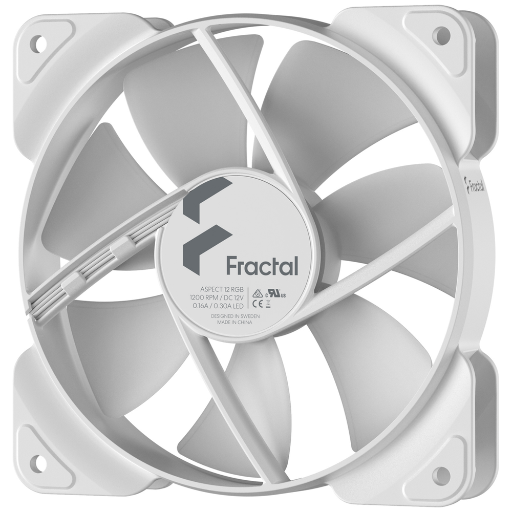 A large main feature product image of Fractal Design Aspect 12 120mm RGB Fan White