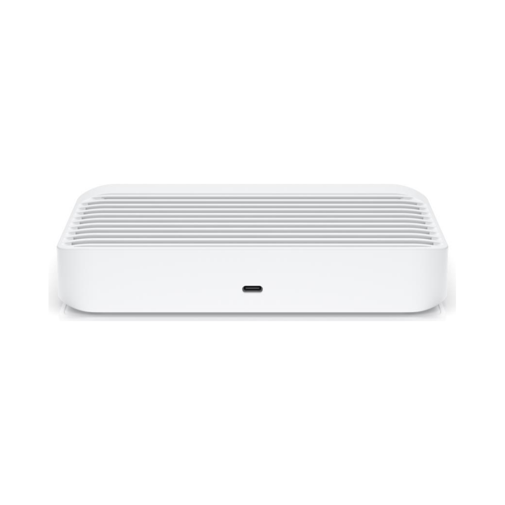 A large main feature product image of Ubiquiti UniFi Switch Flex XG 10GbE Switch