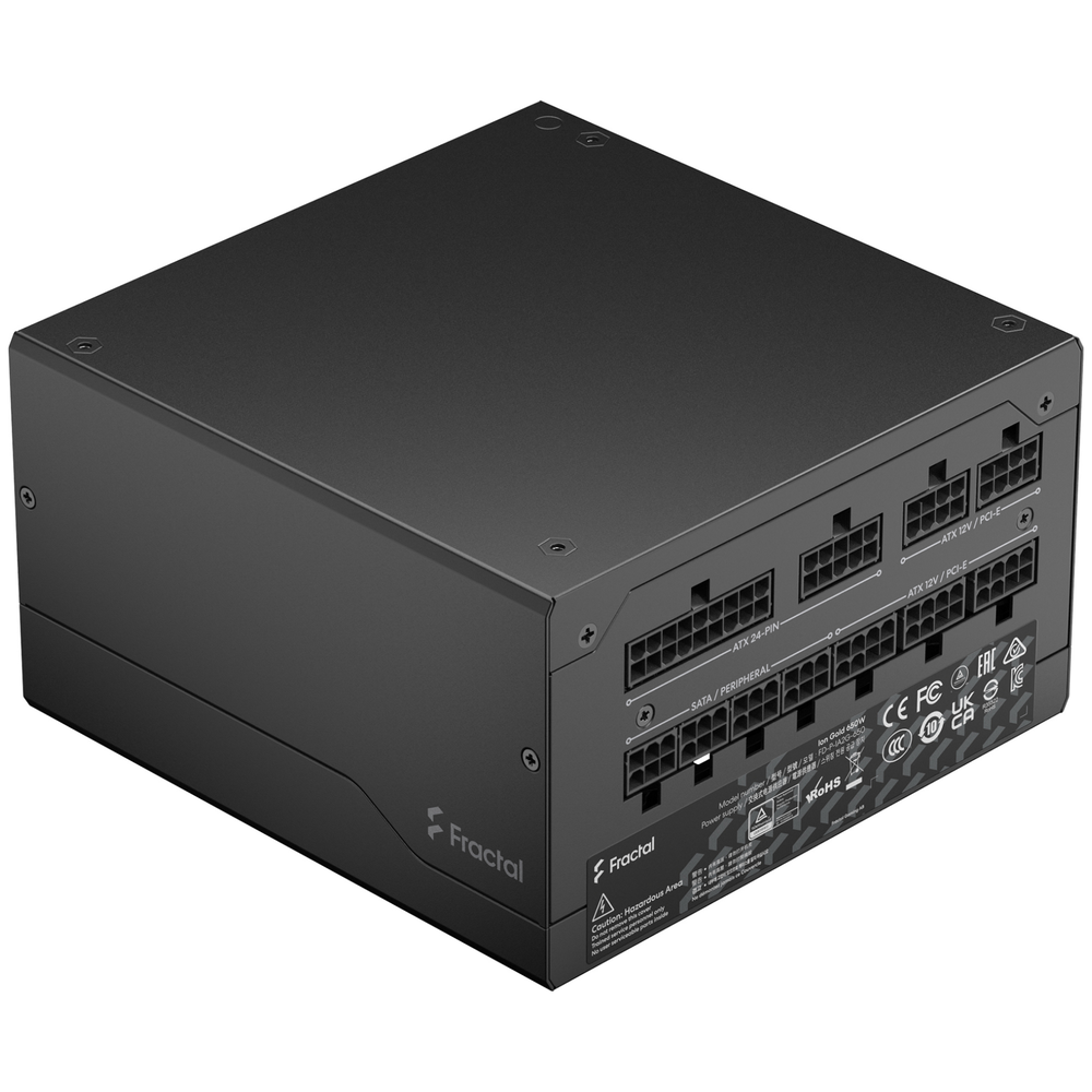 A large main feature product image of Fractal Design Ion Gold 650W Fully Modular 80PLUS Gold Power Supply