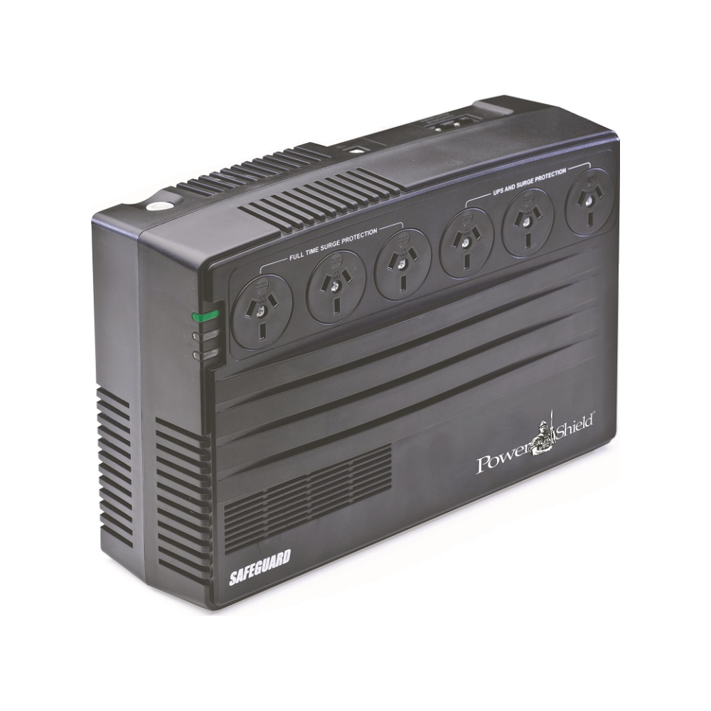 A large main feature product image of Power Shield SafeGuard 750VA UPS