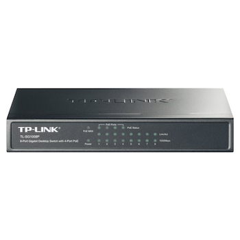 Product image of TP-LINK SG1008P 8-Port Gigabit Ethernet Inc 4xPOE Switch - Click for product page of TP-LINK SG1008P 8-Port Gigabit Ethernet Inc 4xPOE Switch