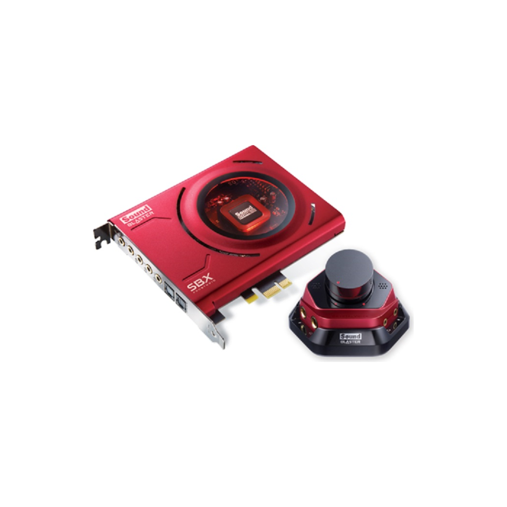 A large main feature product image of Creative Sound Blaster ZX 5.1 PCIe Sound Card w/ Control