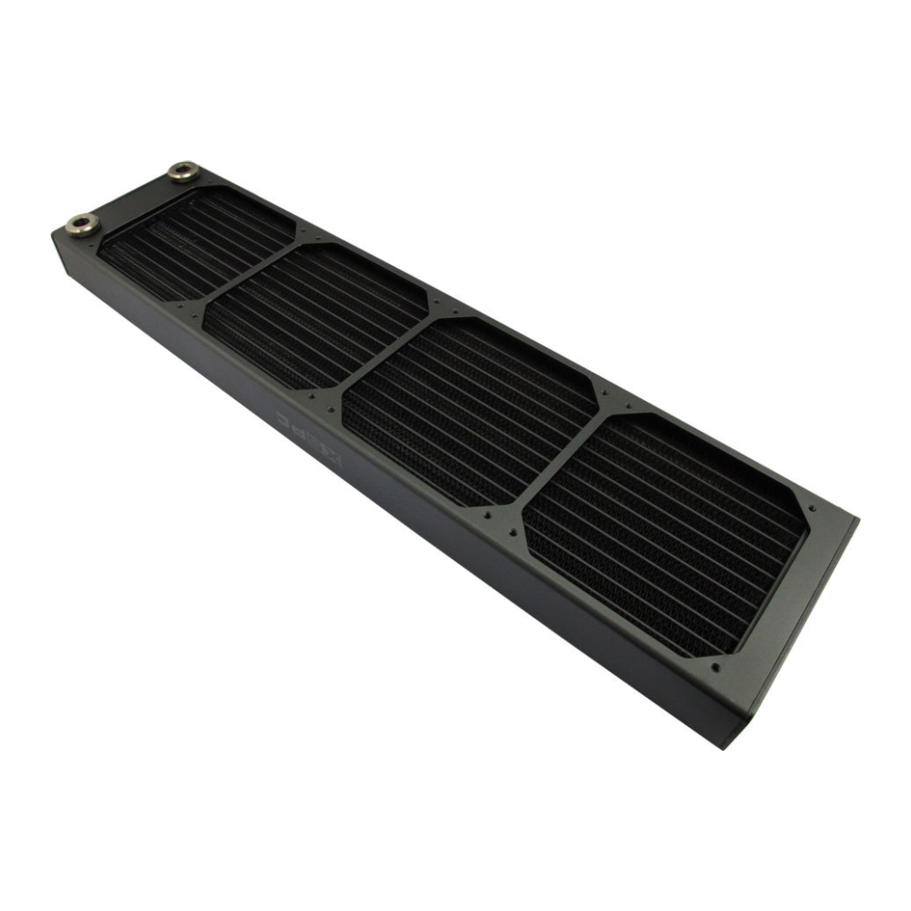 A large main feature product image of XSPC AX480 Quad Fan 480mm Radiator Black