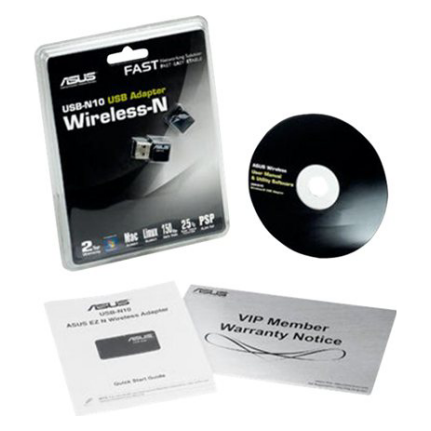 Asus Usb N10 Wireless N 150mbps Nano Usb Adapter Usb N10