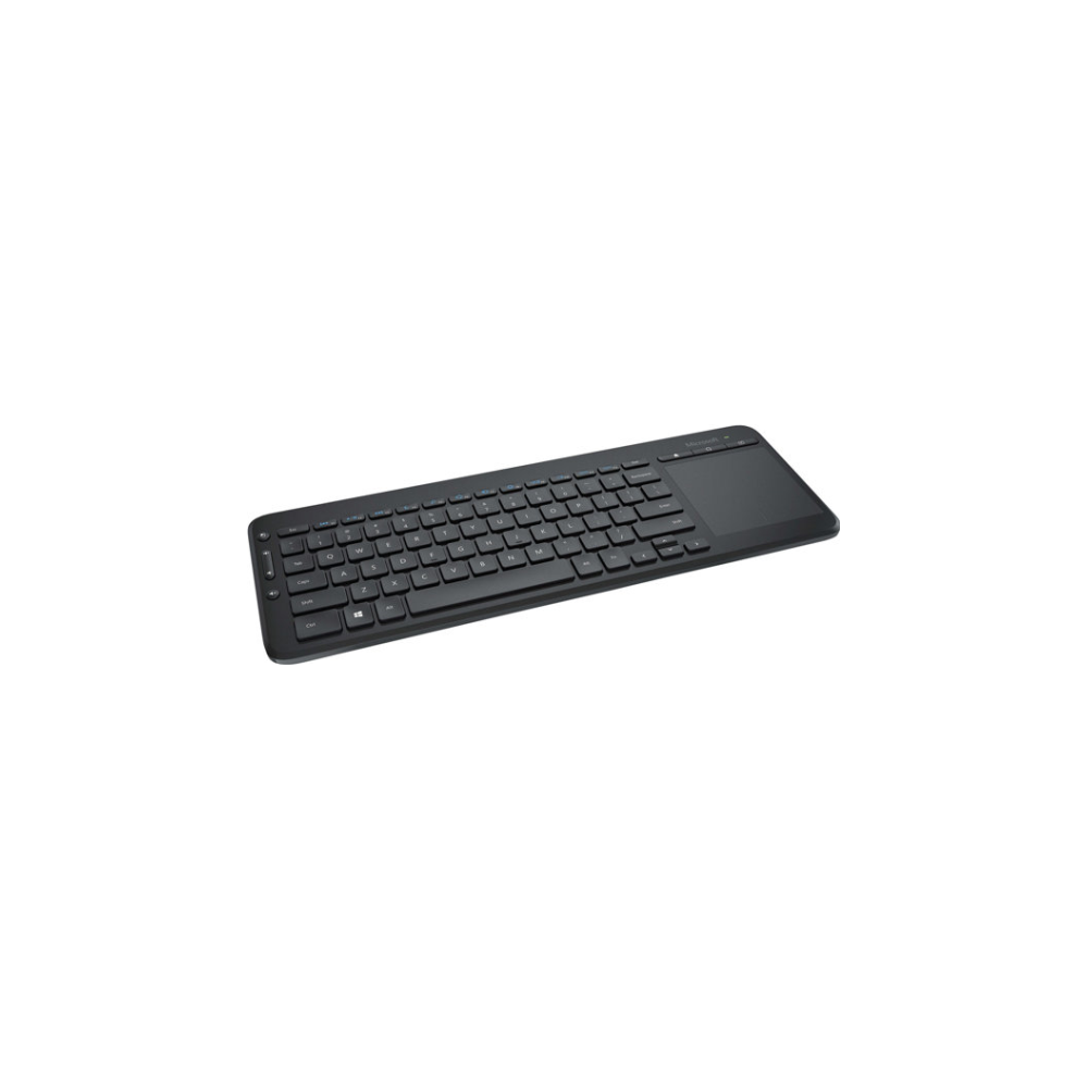 A large main feature product image of Microsoft Wireless All-In-One Media Keyboard
