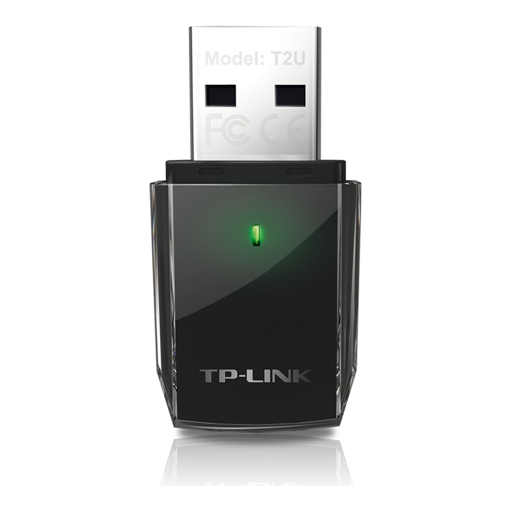 A large main feature product image of TP-LINK Archer T2U 802.11ac AC600 Wireless Dual Band USB Adapter