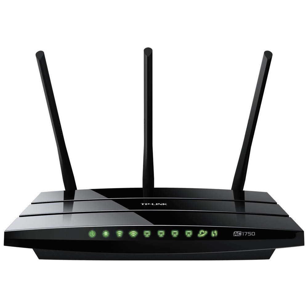 A large main feature product image of TP-LINK Archer C7 Wireless-AC1750 WiFi 5 Dual Band Gigabit Router