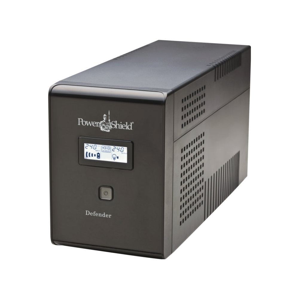 A large main feature product image of Power Shield Defender LCD 1.2KVA UPS