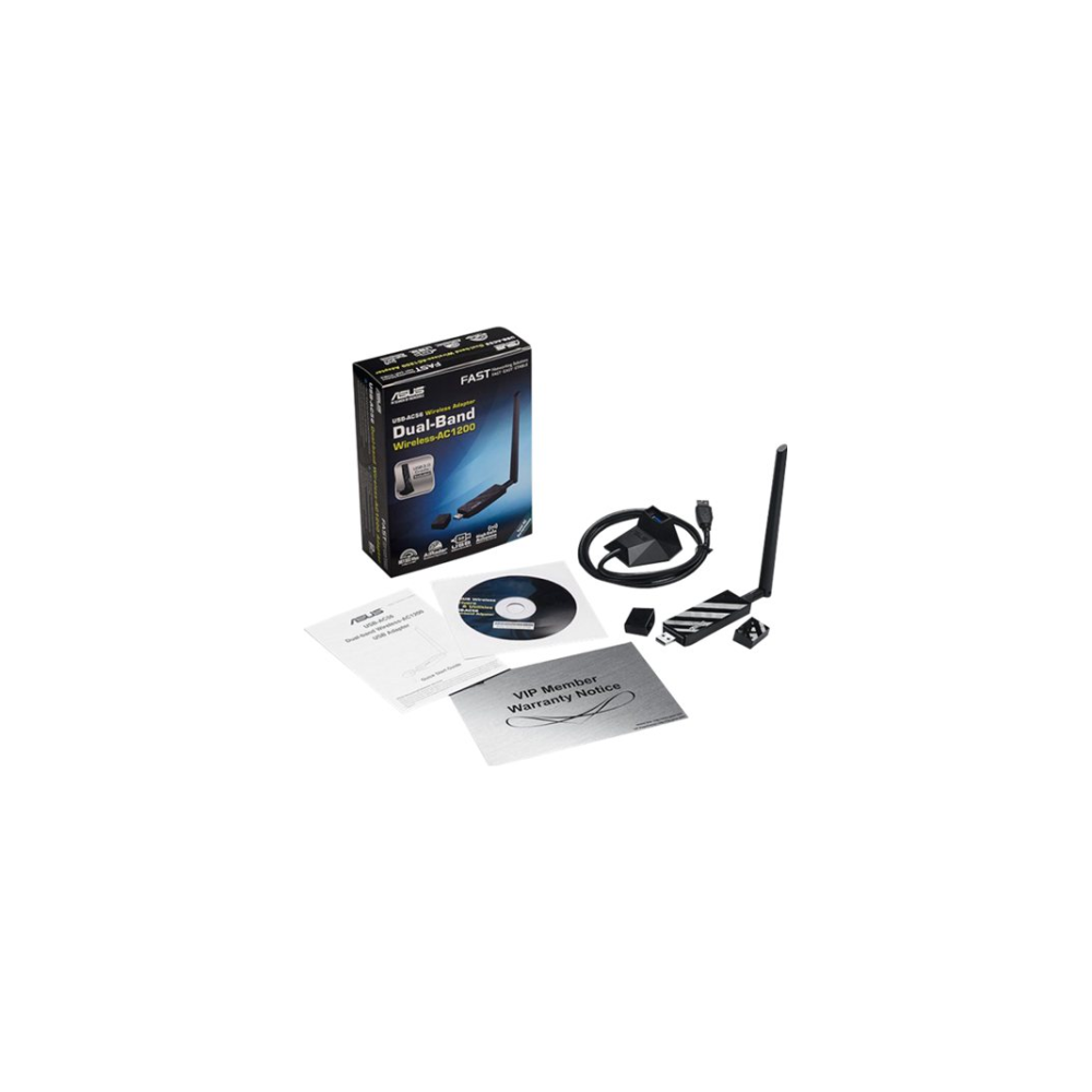 A large main feature product image of ASUS USB-AC56 802.11ac Dual-Band Wireless-AC1300 USB3.0 Adapter