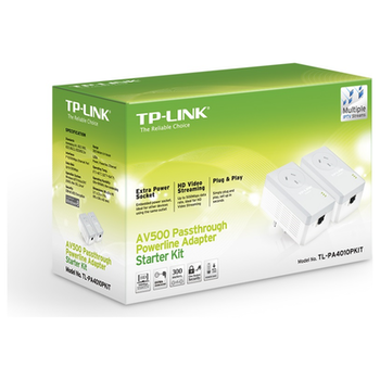Product image of TP-LINK AV600 Powerline Ethernet Kit w/ Power Passthrough - Click for product page of TP-LINK AV600 Powerline Ethernet Kit w/ Power Passthrough