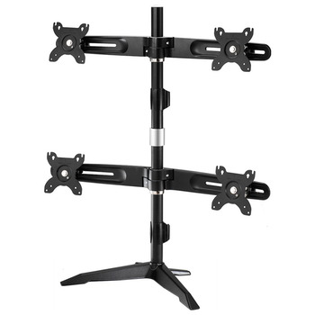 "Product image of Aavara AV-DS400 Freestanding Quad Monitor Stand (up to 24"") - Click for product page of Aavara AV-DS400 Freestanding Quad Monitor Stand (up to 24"")"