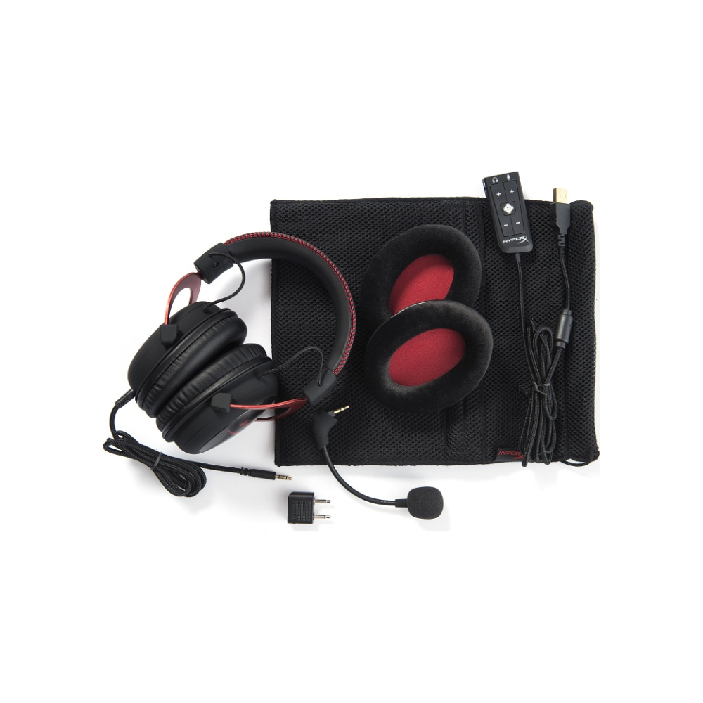 A large main feature product image of Kingston HyperX Cloud II Gaming Headset Red