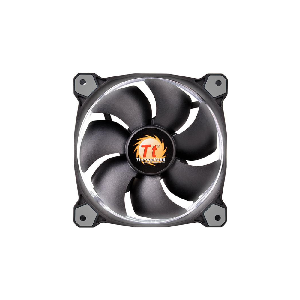 A large main feature product image of Thermaltake Riing Single 120mm White LED SP Fan