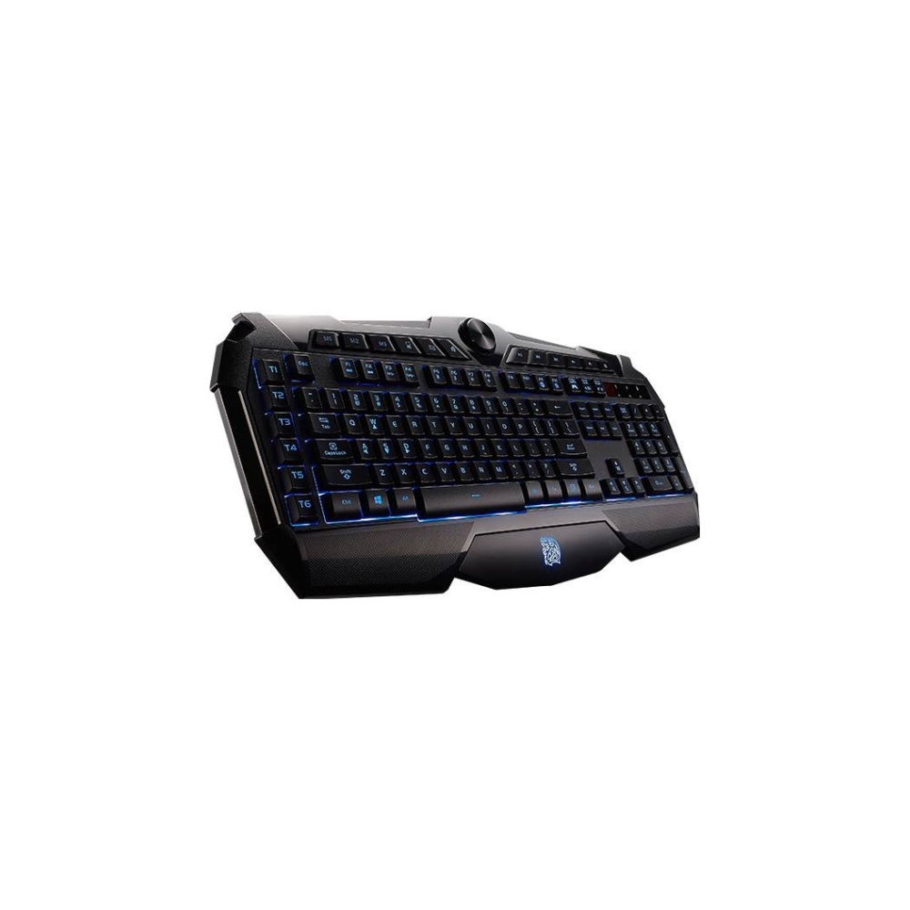 A large main feature product image of Tt eSports Challenger Prime Gaming Keyboard