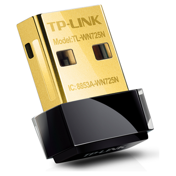 Product image of TP-LINK WN725N 150Mbps Wireless N USB Nano Adapter - Click for product page of TP-LINK WN725N 150Mbps Wireless N USB Nano Adapter