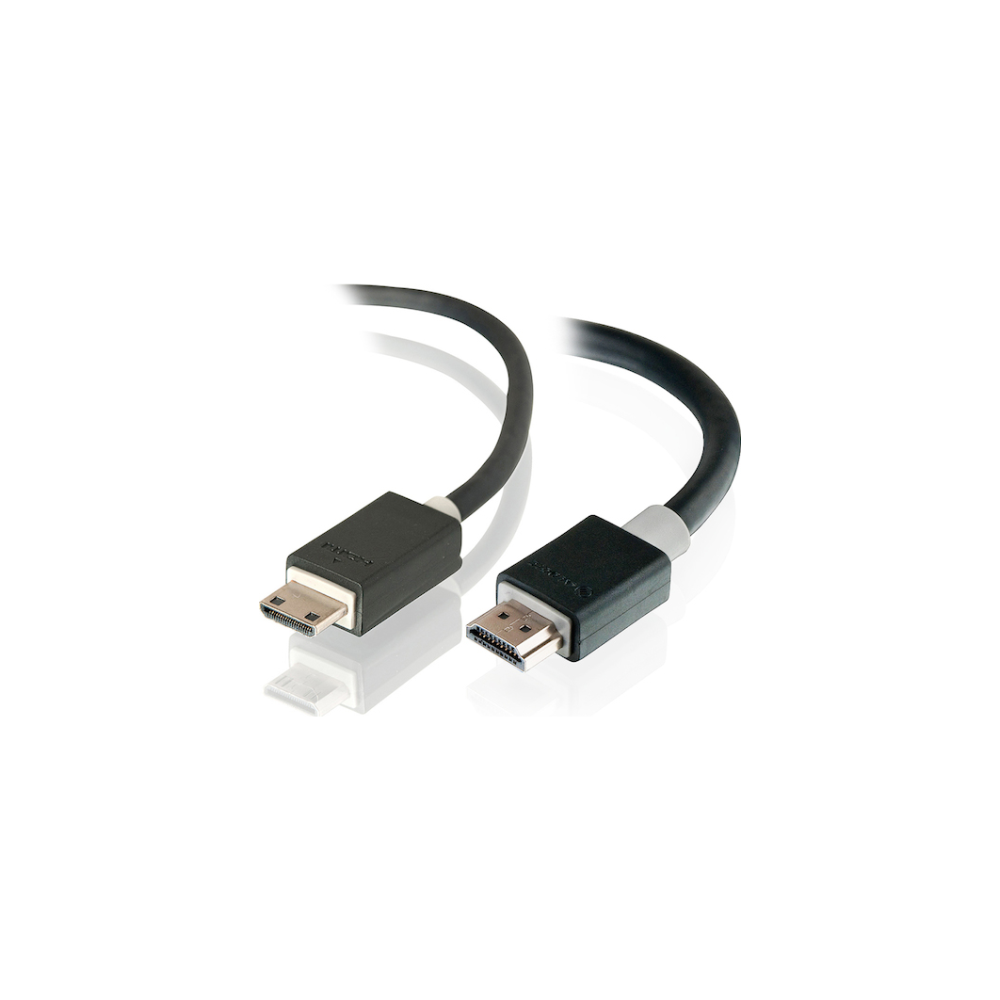 A large main feature product image of ALOGIC Pro Series High Speed Mini HDMI to HDMI with Ethernet 2m Cable v2.0