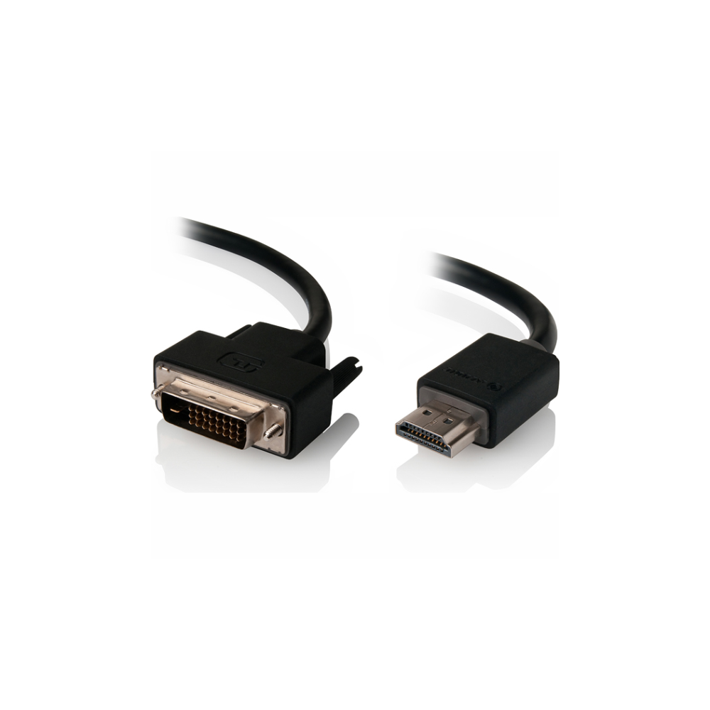 A large main feature product image of ALOGIC DVI-D to HDMI 1m Cable