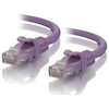 A product image of ALOGIC CAT6 0.5m Network Cable Purple