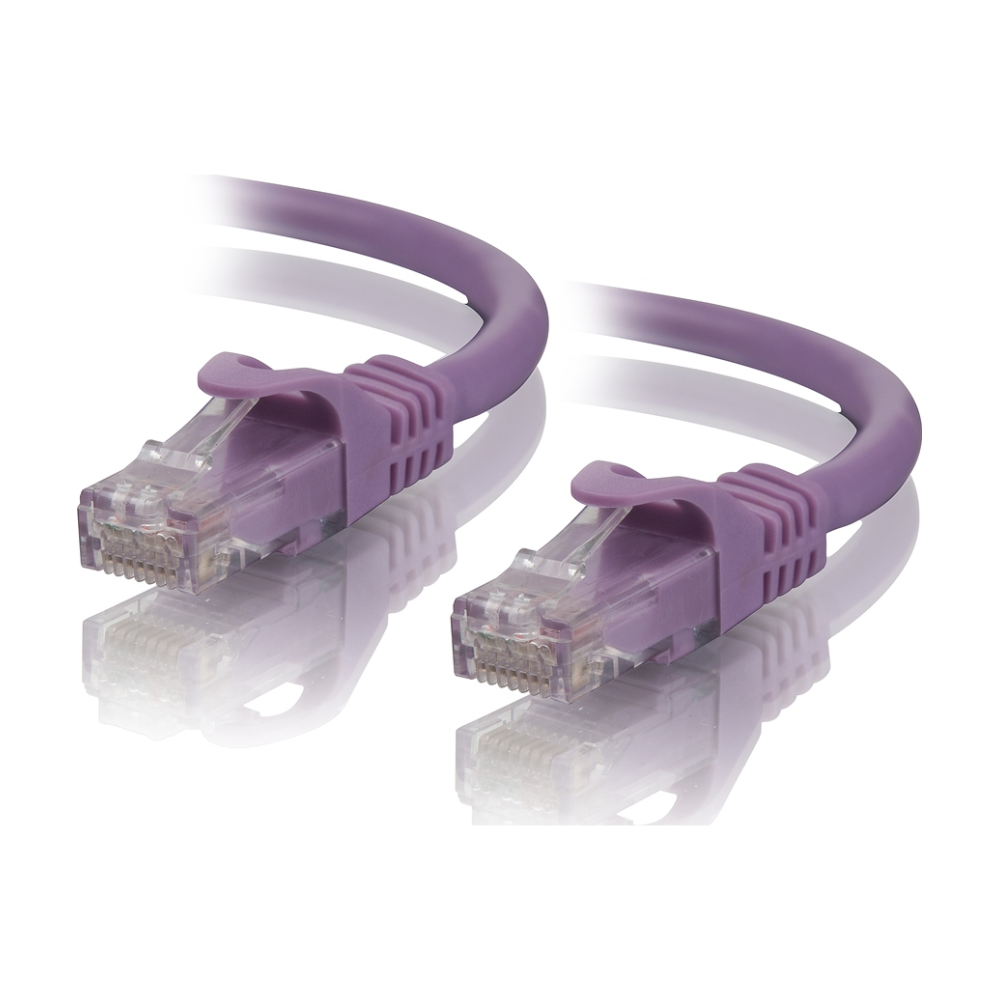 A large main feature product image of ALOGIC CAT6 0.5m Network Cable Purple