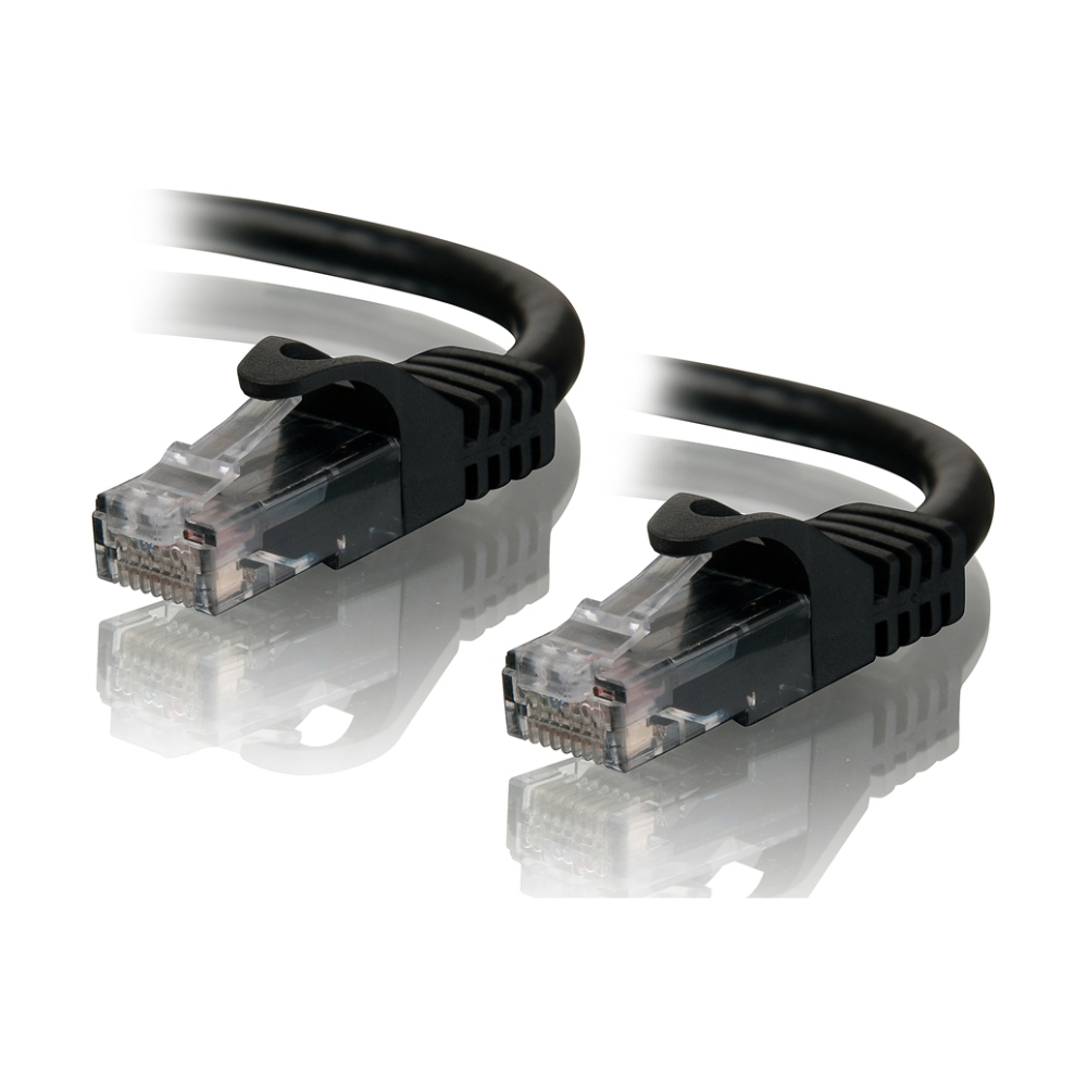 A large main feature product image of ALOGIC CAT6 1m Network Cable Black