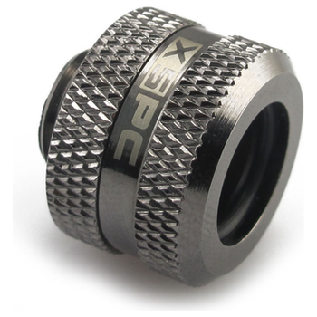Product image of XSPC G1/4 14mm OD Black Chrome Triple-Seal PETG Fitting - Click for product page of XSPC G1/4 14mm OD Black Chrome Triple-Seal PETG Fitting