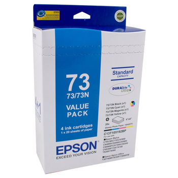 Product image of Epson DURABrite 73N Value Pack - Click for product page of Epson DURABrite 73N Value Pack