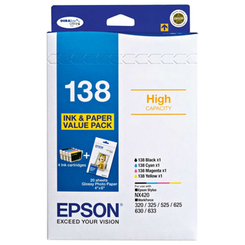 Product image of Epson DURABrite 138 Value Pack - Click for product page of Epson DURABrite 138 Value Pack